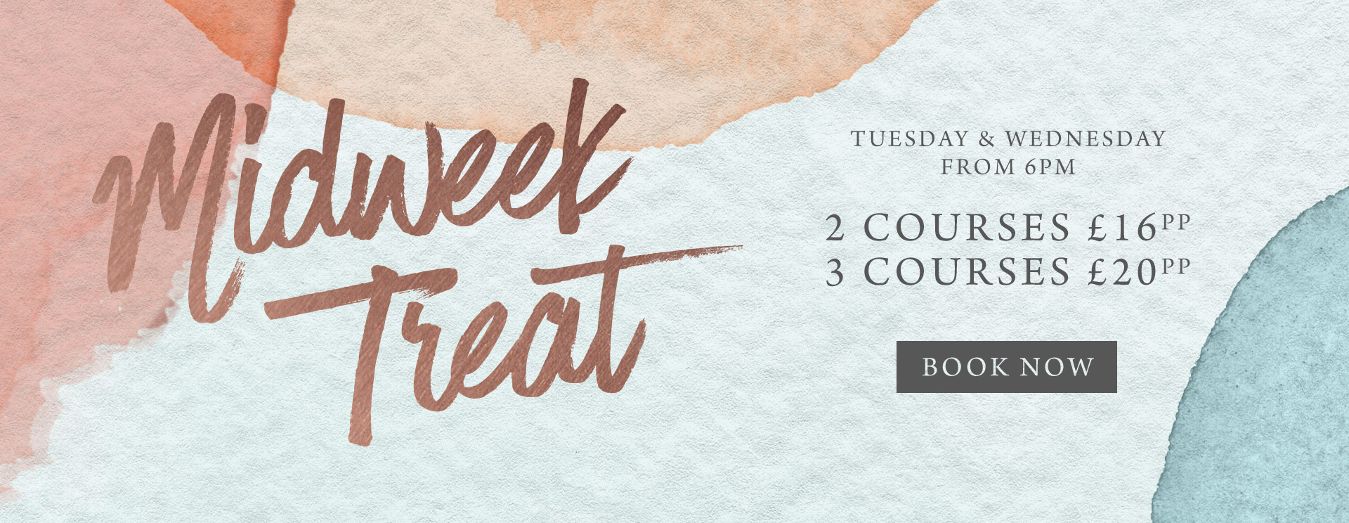 Midweek treat at The Queen & Castle - Book now