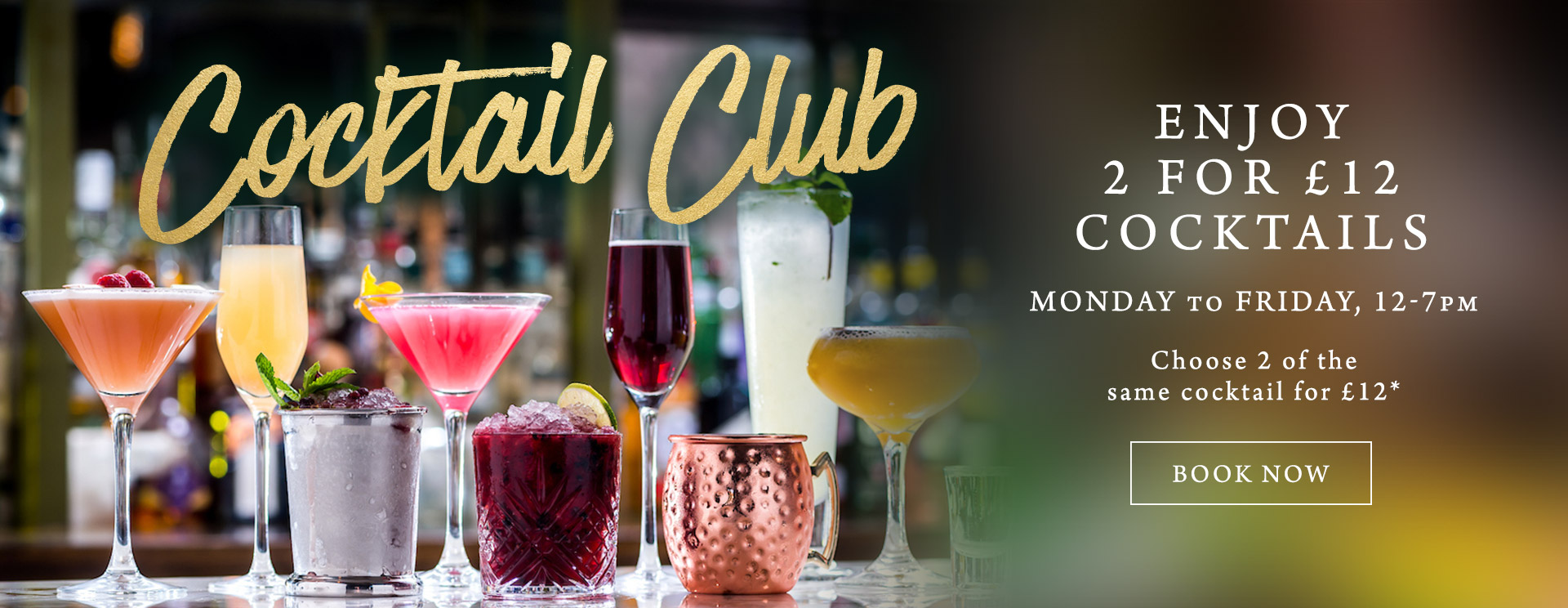 2 for £12 cocktails at The Queen & Castle